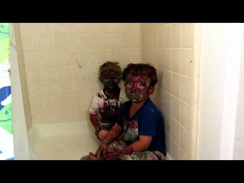 Adorable Kids Caught by Dad after painting themselves