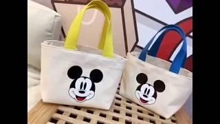 초경량 디즈니 미키 캔버스 가방 에코백 학생 어린이 도…