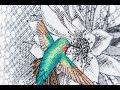 Cross stitch - World of Cross Stitching 231 preview inc. blackwork hummingbird