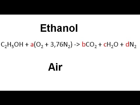 Balancing the combustion reaction of Ethanol + air