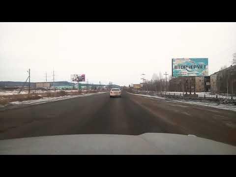 Состояние дороги в Братске. Трасса Усть-Кут - Братск