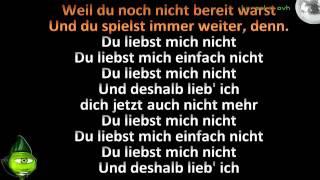 Du liebst mich nicht Ado Kojo feat Shirin David Karaoke version with lyrics and lead