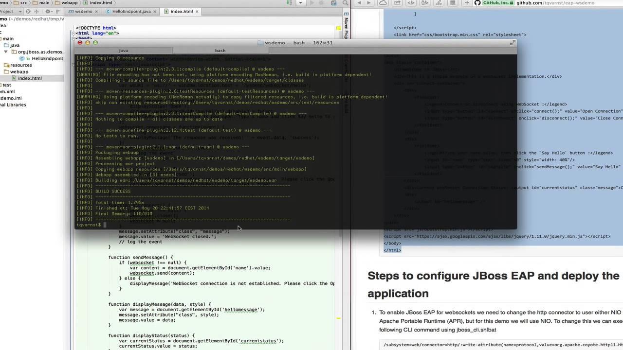 WebSocket Demo for JBoss EAP 6 3 Beta
