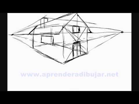 Como dibujar una casa en 3d dibujos de casas en for Casas para dibujar
