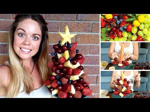 HOW TO MAKE A FRUIT XMAS TREE - Raw Nourishment