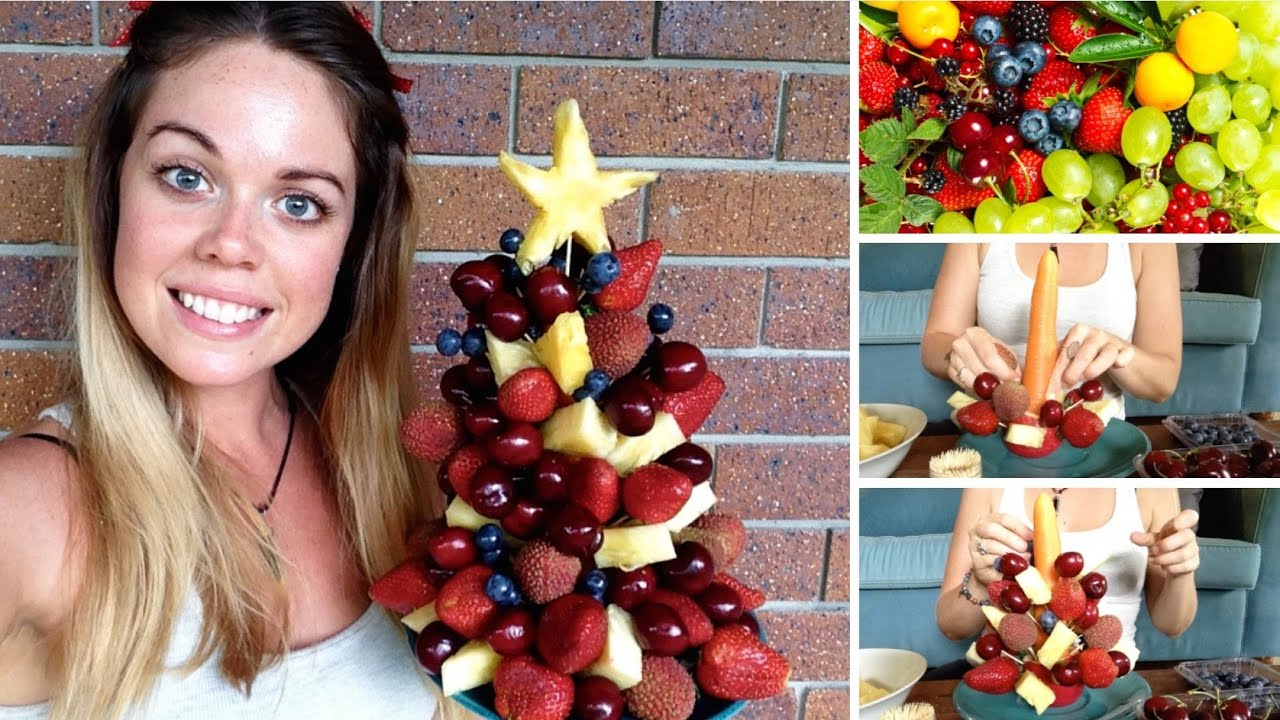 HOW TO MAKE A FRUIT XMAS TREE