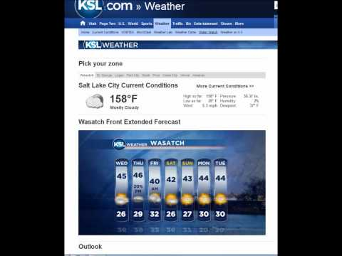 Funny Current Temperature Reading For Salt Lake City