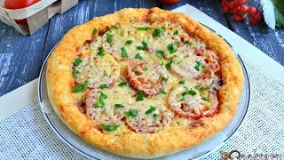 Пицца бездрожжевая в микроволновке