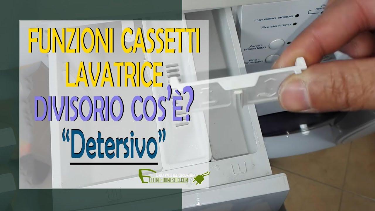 Funzionamento E Simboli Del Cassetto Del Detersivo Della Lavatrice Youtube