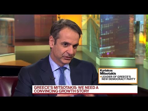 Kyriakos Mitsotakis interview on Bloomberg