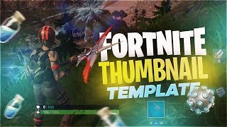 Fortnite Thumbnail Template (FREE PHOTOSHOP DOWNLOAD)