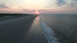 Sullivans Island Sunrise Proposal by Drone