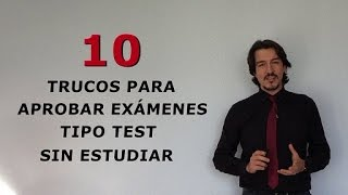 10 Trucos Para Aprobar Exámenes Tipo Test Sin Estudiar Youtube