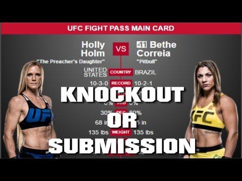 UFC Fight Night 111   Holly Holm vs Bethe Correia Predictions UFC SINGAPORE Preview
