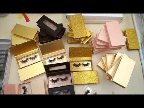 OMG! The latest style, Super Fire Golden Eyelash Packaging