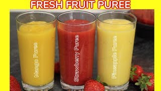How to Make Fresh Fruit Puree | Yummieliciouz Food Recipes