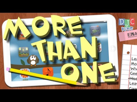 Fun Learning Song for Kids - More than One