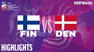 Finland vs. Denmark - Game Highlights - #IIHFWorlds 2019
