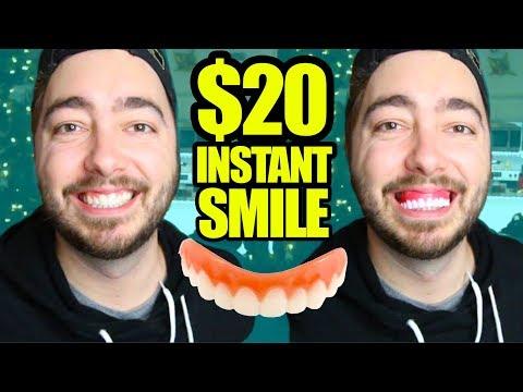 Trying $20 Instant Smile Veneers! | AS SEEN ON TV |