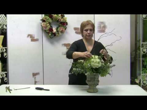 How to make a silk hydrangea centerpiece using ready made silk how to make a silk hydrangea centerpiece using ready made silk florals mightylinksfo