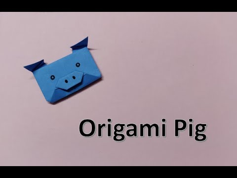 DIY : Easy Origami Tutorial | Paper Pig Step by Step | Paper Folding #Tuesdaycraft