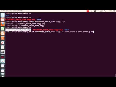 How to read SEGY EBCDIC using dd command