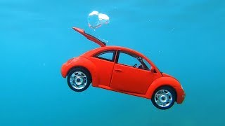 Diving down for VW Bug Toys Cars | Pretend Play with Cars | Family Fun Playtime