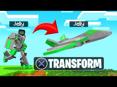 We Became TRANSFORMERS In MINECRAFT! (Crazy)