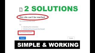 How to Fix ERR_CONNECTION_RESET in Google Chrome 2019 | The Site Can't Be Reached [ 2-Fix'es ]