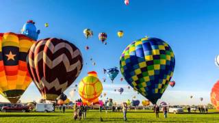 2015 Albuquerque International Balloon Fiesta Timelapse Long cut with music. 4k