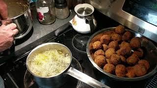 Deep Frying Falafel