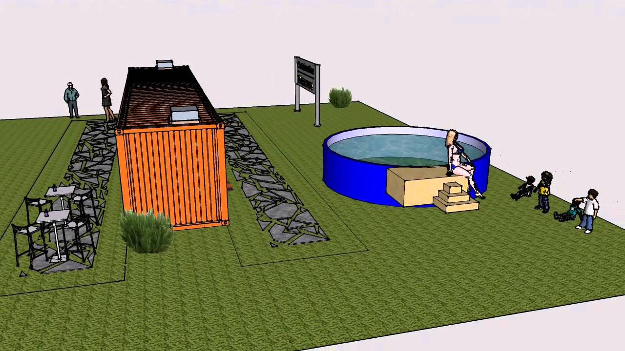 Container sauna piscina youtube for Container piscina
