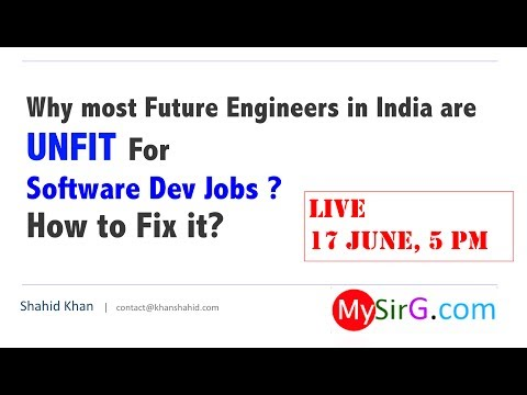 Why most Future Engineers in India are UNFIT For  Software Dev Jobs ? How to Fix it? | LIVE (Hindi)