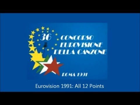 Eurovision 1991 All 12 Points