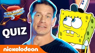 Play 'Are You Smarter Than A Fifth Grader' 🍎 w/ John Cena, SpongeBob & More! | #KnowYourNick Video