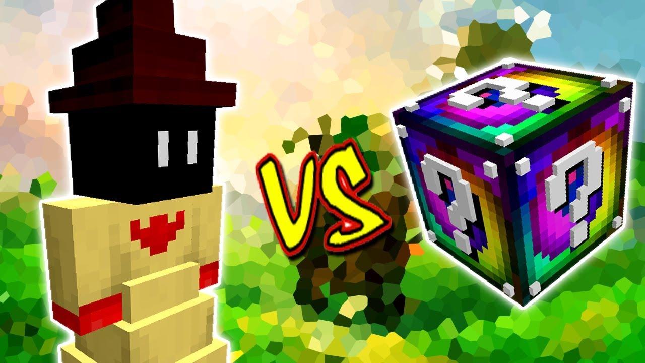 Grande Magico Vs Lucky Block Spiral Minecraft Lucky Block