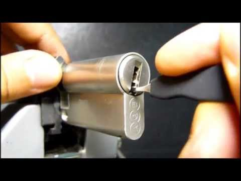 Взлом отмычками AGB Scudo 5000  AGB Scudo 5000 Dimple lock 7 pins (omegared lockpicking: agb scudo 5000, dimple lock 7 pins / serratura punzonata agb scudo 5000 7 pins)