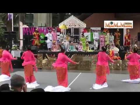 Innwa Style Group Dance - Darling Harbor Burmese (Myanmar) Food & Culture Show 2014