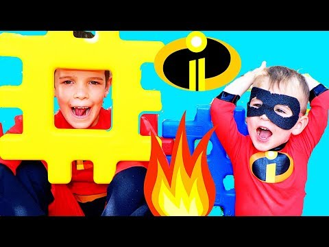 Incredibles 2 JACK JACK ATTACK No Powers VS Super Powers with Dash