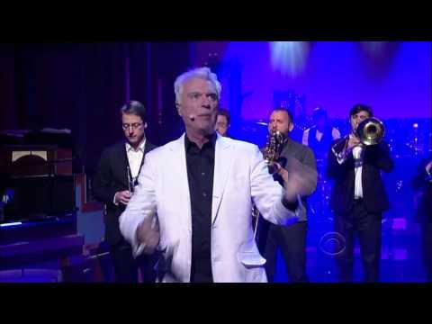 David Byrne & St. Vincent - I Should Watch TV (Live on Letterman)