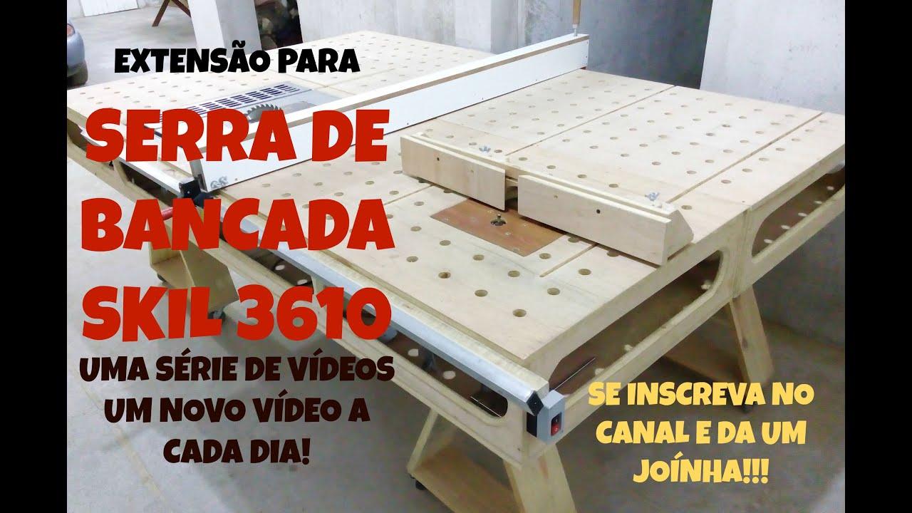 BANCADA PARA MARCENARIA COM A SERRA DE BANCADA SKIL 3610 VIDEO 4  #C51D04 3000x1977
