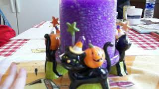 Found a Halloween Black Candle Holder at a Garage Sale!