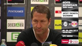 SK Sturm: Mediabriefing vor WAC (33. Runde 2014/15)