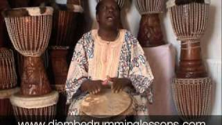 Djembe Drum Lessons with Master Drummer Lamin Jassey