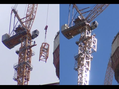 Как растут башенные краны для небоскреба Лахта Центр