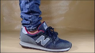 New Balance 373 On Feet ( Navy / Red ) - YouTube