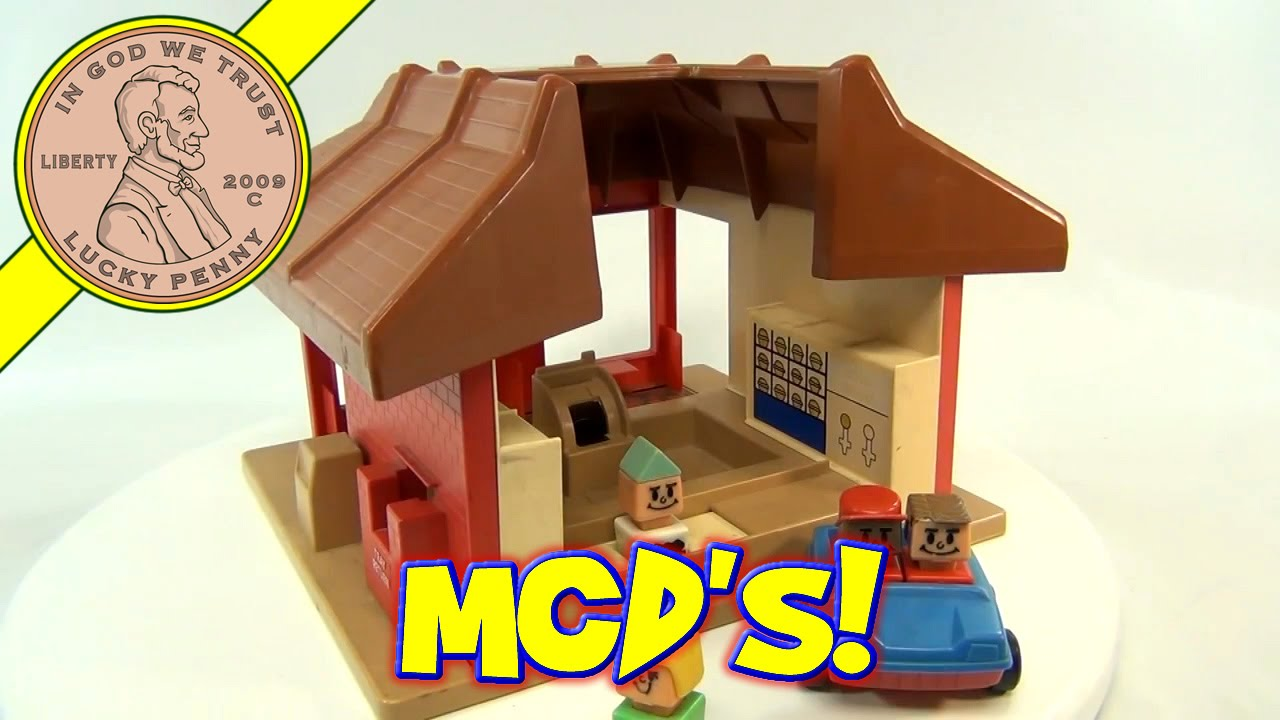Playskool Toy Food : Vintage playskool mcdonalds familiar places fast food