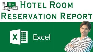 How To Make Hotel Room Reservation Report In Microsoft Excel Tutorial In Urdu / Hindi
