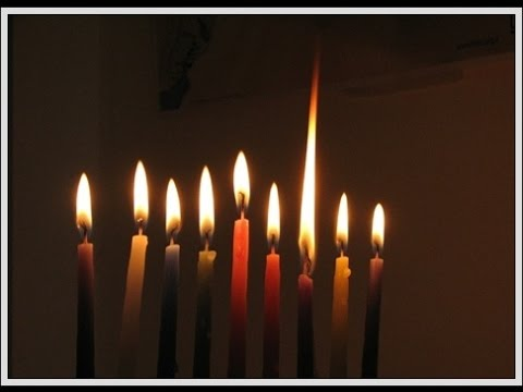 Chanukah-candle-lighting-including-the-three-blessings