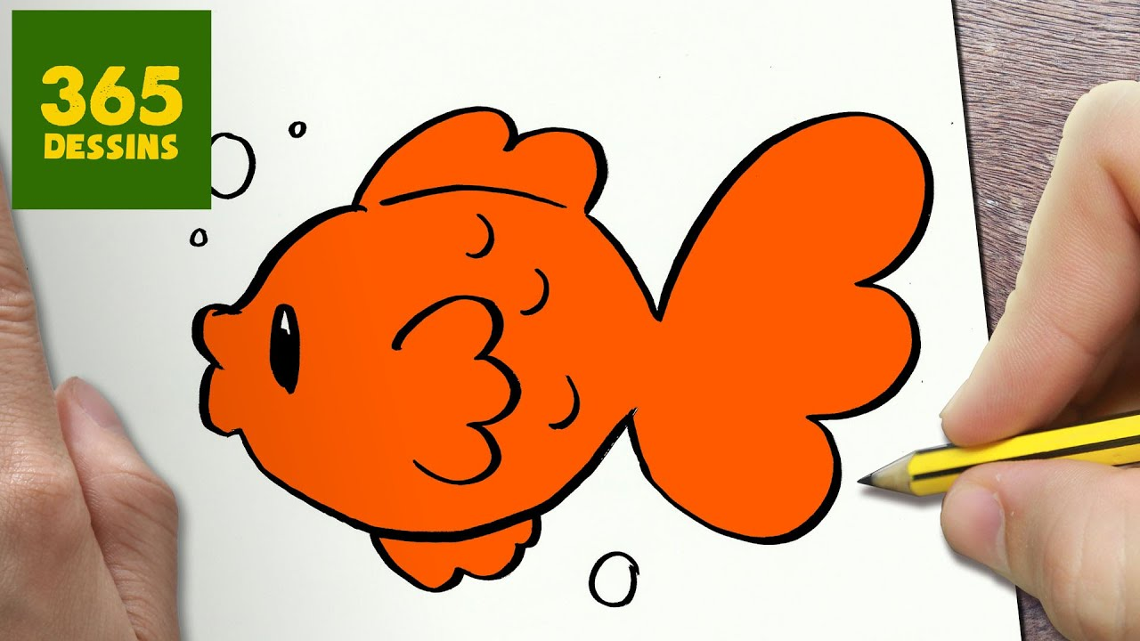 Comment Dessiner Poisson Kawaii étape Par étape Dessins Kawaii Facile